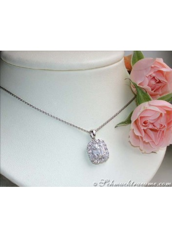 Exquisite Baguette & Brilliant Cut Diamond Pendant