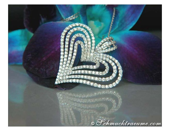 Terrific Diamond Heart Pendant
