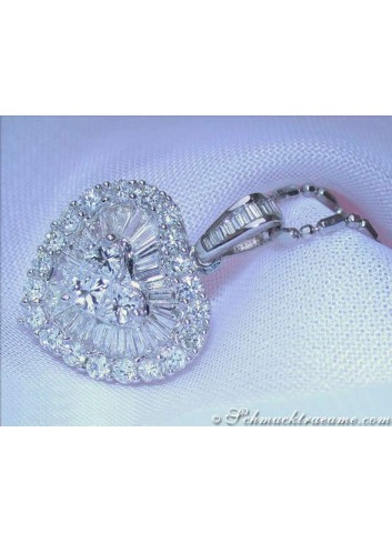 Precious Diamond Heart Pendant
