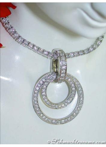 Versatile Black & White Diamond Pendant