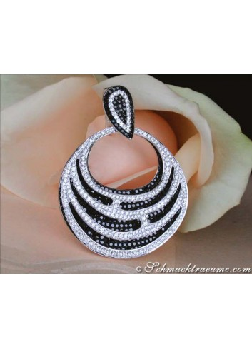 Magnificent Black & White Diamond Pendant