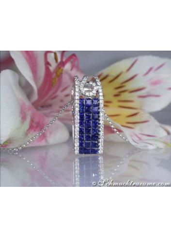 Beautiful Sapphire Pendant with Diamonds