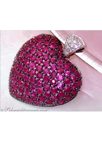 Huge Ruby Heart Pendant