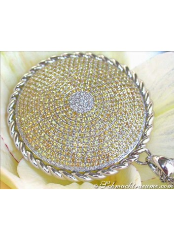 Opulent Yellow Sapphire Pendant with Diamonds