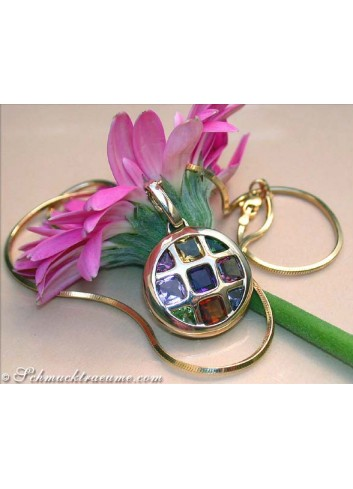 Gorgeous Multicolor Gemstone Pendant
