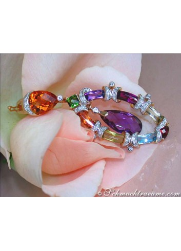 Fabulous Multicolor Gemstone Pendant