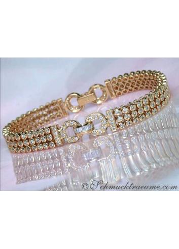 Attractive Diamond Bracelet in Yellow gold 14k