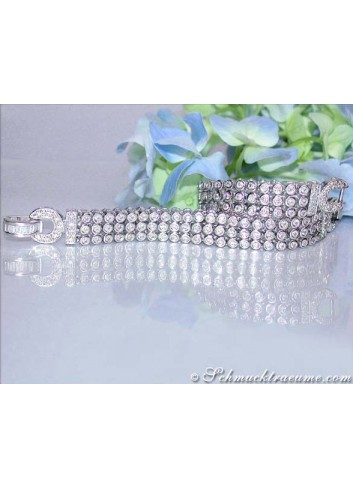 Attractive Diamond Bracelet in White gold 14k