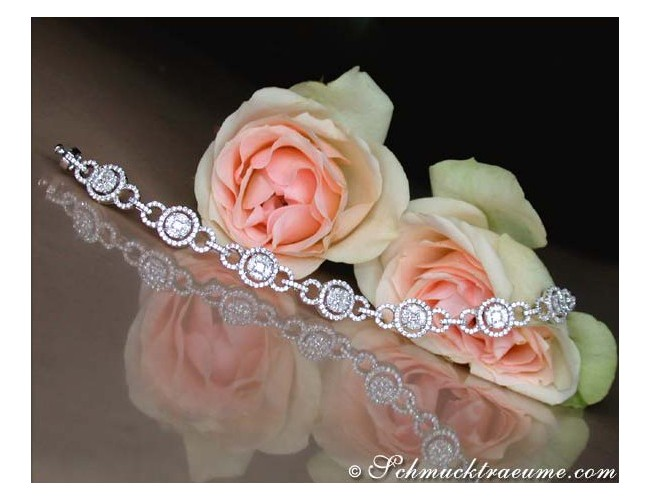 Precious Illusion Style Diamond Bracelet