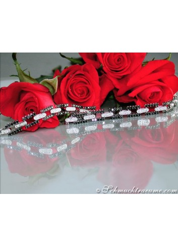 Elegant Black & White Diamond Bracelet