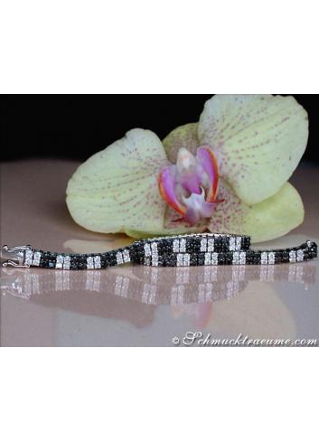 Terrific Black & White Diamond Bracelet