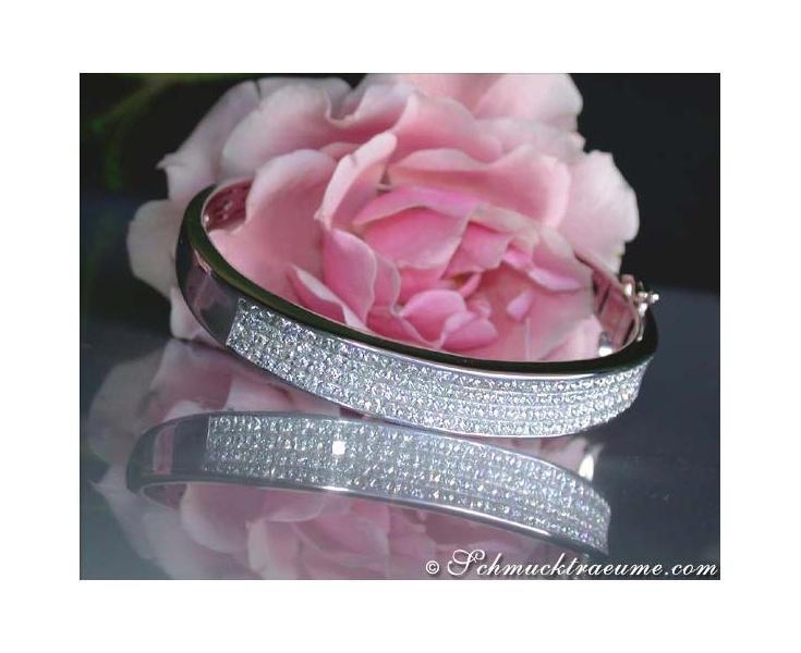 Glorious Diamond Bangle (Invisible Setting)