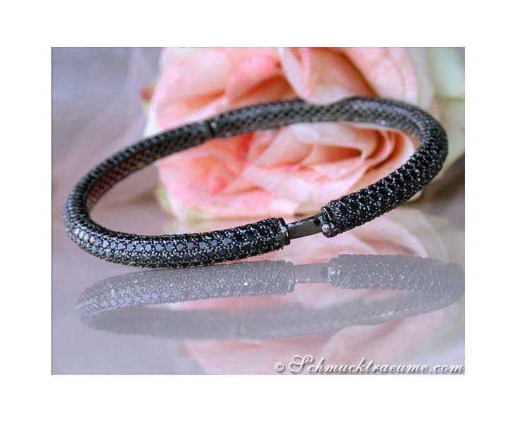 Gorgeous Black Diamond Bangle