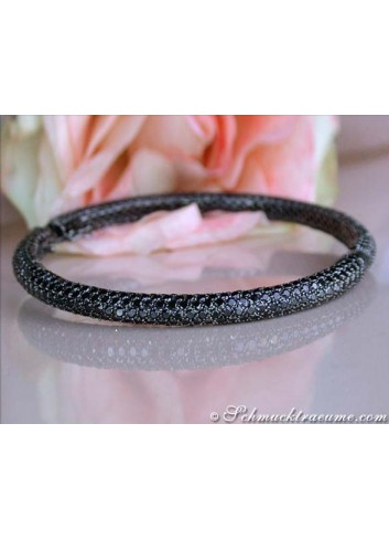 Gorgeous Black Diamond Bangle