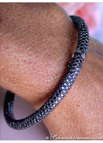 Schwarze Diamanten Armreif