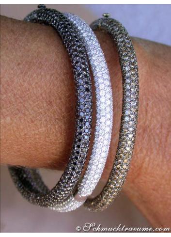 Armreifen mit schwarzen Diamanten