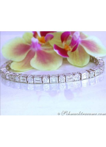 Stunning Diamond Bracelet (9,41 ct.)
