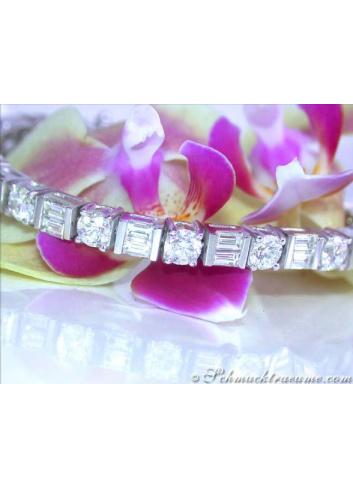 Stunning Diamond Bracelet (9,41 ct.)