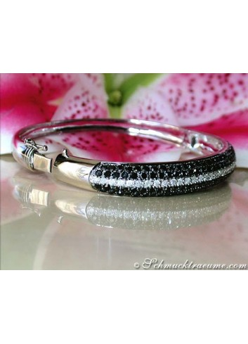 Magnificent Black & White Diamond Bangle