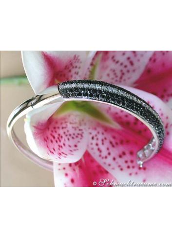 Brillanten & schwarze Diamanten Armreif