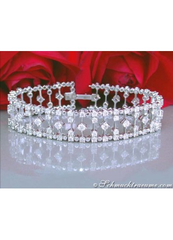 Impressive Diamond Bracelet (9,87 ct.)