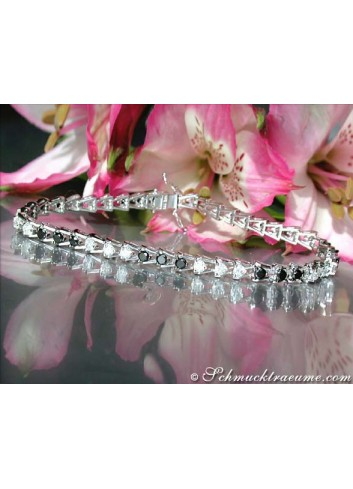 Timeless Black & White Diamond Tennis Bracelet