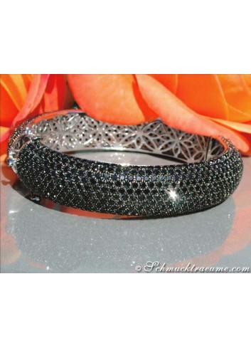 Magnificent Black Diamond Bangle