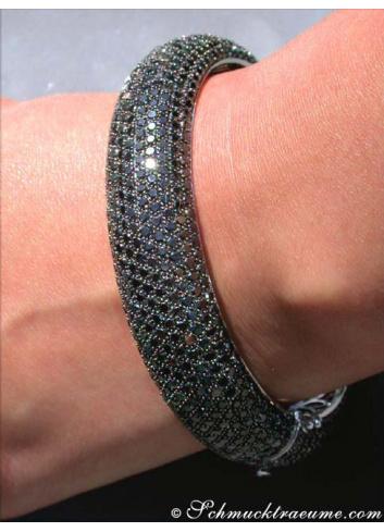 Armreif mit schwarzen Diamanten