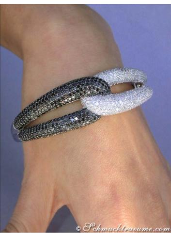 Brillanten Armreif mit schwarzen Diamanten