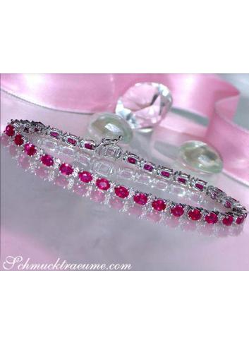 Rubin Armband mit Brillanten