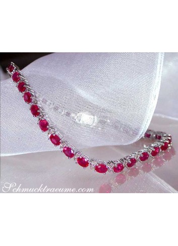 Elegant Ruby Bracelet with Diamonds
