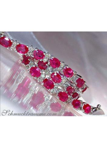 Elegant Ruby Bracelet with Diamonds