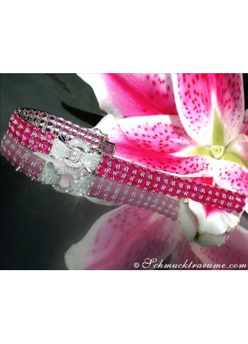 Glorious ruby ​​diamonds bracelet