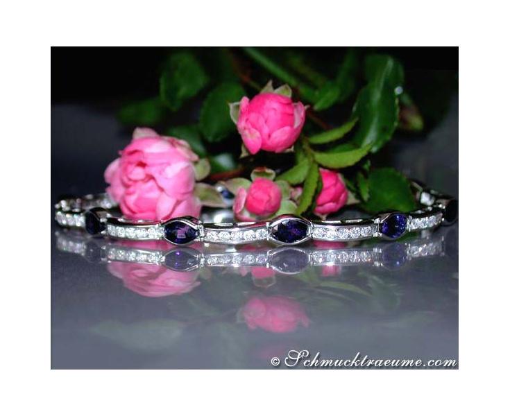 Saphir Brillanten Armband