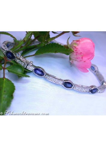 Gorgeous Sapphire Bracelet with Diamonds