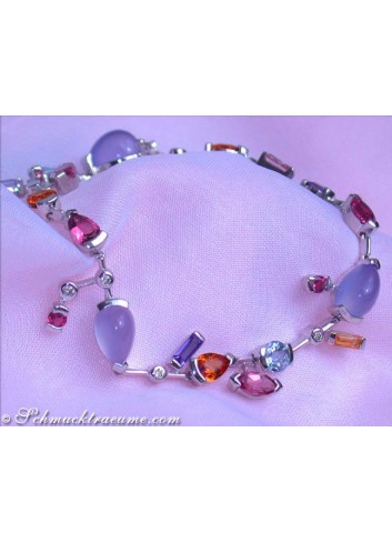 Magical Multicolor Diamonds Bracelet