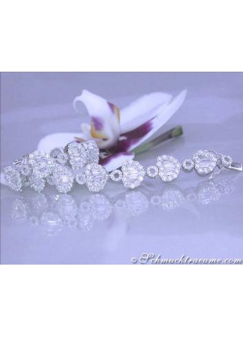 Exquisite Diamond Heart Bracelet