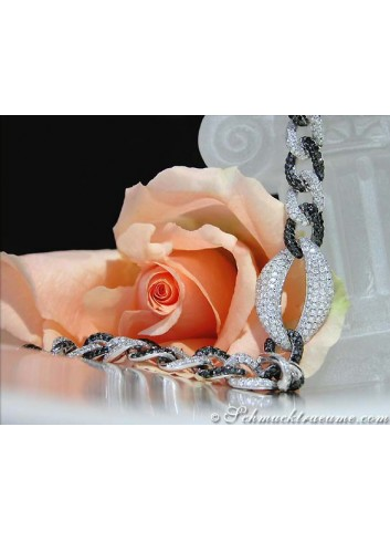Tremendous Black & White Diamond Bracelet