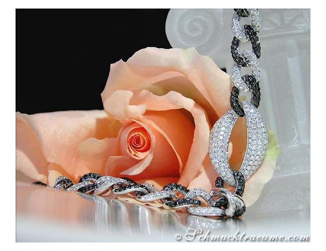 Armband mit schwarzen Diamanten & Brillanten