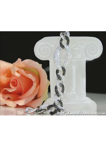 Tremendous Black & White Diamond Bracelet