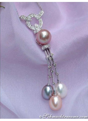 Fabulous Multicolor Freshwater Pearl Necklace