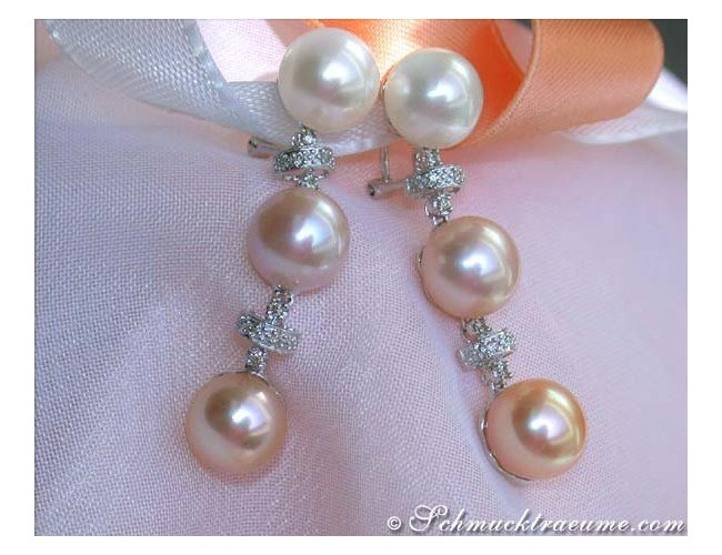 Magnificent Pastel Freshwater Pearl Earrings