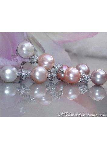 Magnificent Multicolor Freshwater Pearl Earrings
