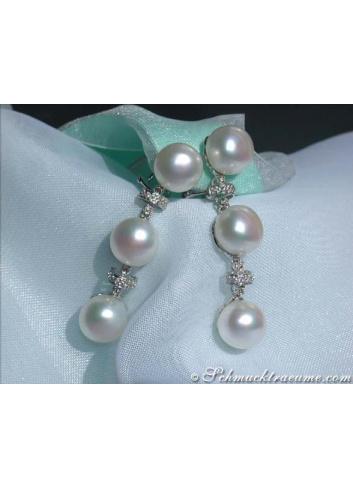 Elegant Freshwater Pearl Dangling Earrings