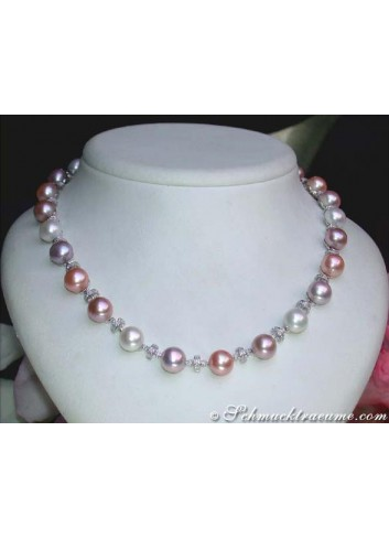 Beautiful Multicolor Freshwater Pearl Necklace