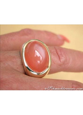 Mondstein Ring in Gelbgold 750