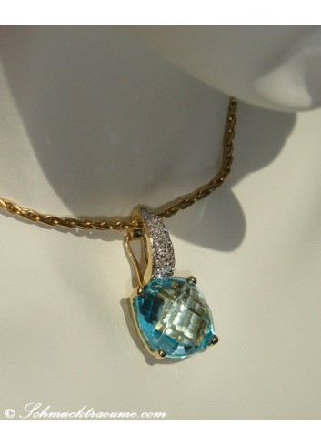 Pretty Blue Topaz Pendant