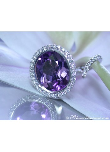 Amethyst Ring in Weißgold 750