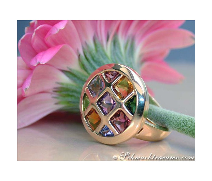 Gorgeous Multicolor Gemstone Ring
