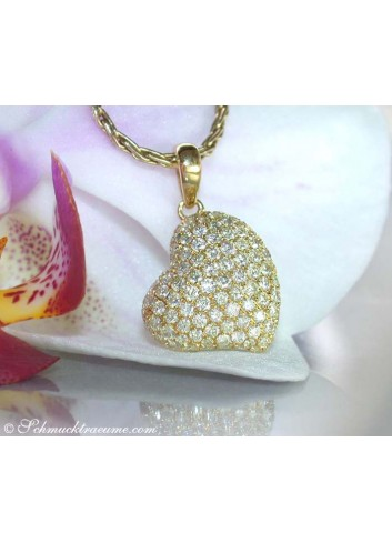Pretty Diamond Heart Pendant